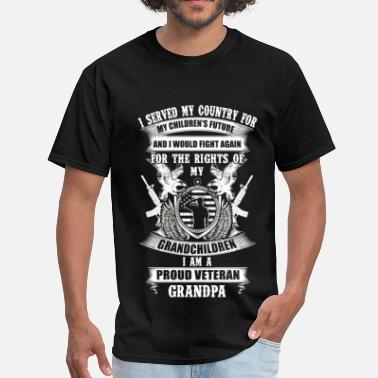 Patriotic Veteran Grandpa - Served my country for children - Men's T-Shirt