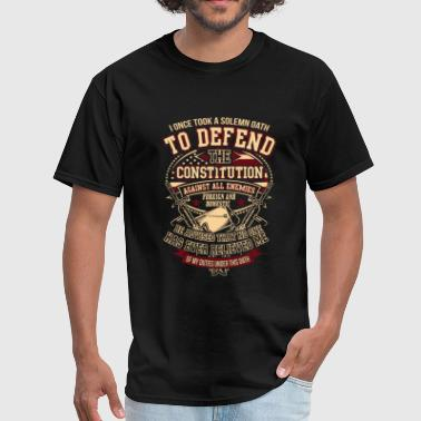 Thanks A Veteran Veteran - Solemn oath to defend the constitution - Men's T-Shirt