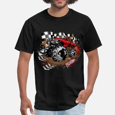 Mud Bog Racing Mega Mud Truck Red Race - Men's T-Shirt