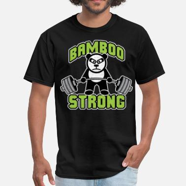 Panda Weight Lifting Panda Bear Deadlift - Bamboo Strong - Men's T-Shirt