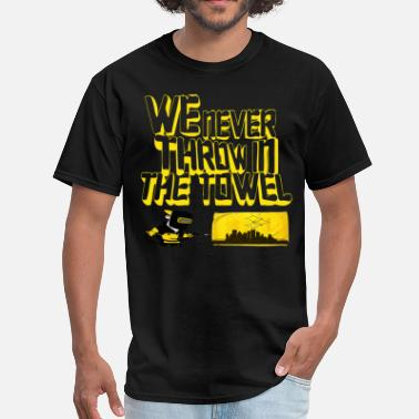 Steel Curtain We Never Throw In The Towel - Men's T-Shirt