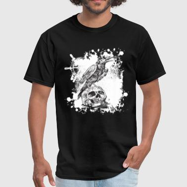 Skull Crow Crow and Skull - Men's T-Shirt