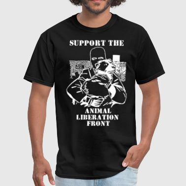 SUPPORT the Animal Liberation Front ALF vegan Unis - Men's T-Shirt