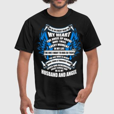 He Is My Husband And Angel T Shirt - Men's T-Shirt