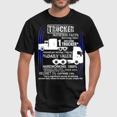 Trucker Dad Awesome Trucker T Shirt, Trucker T Shirt - Men's T-Shirt