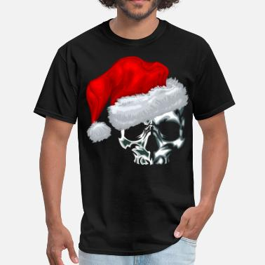 Christmas Skull Santa Skull - Men's T-Shirt