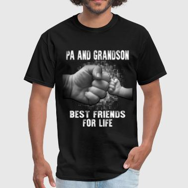 Papa And Grandson Pa And Grandson Best friends for Life - Men's T-Shirt