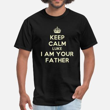 I Am A Nerd Keep calm and Luke I am your father - Men's T-Shirt