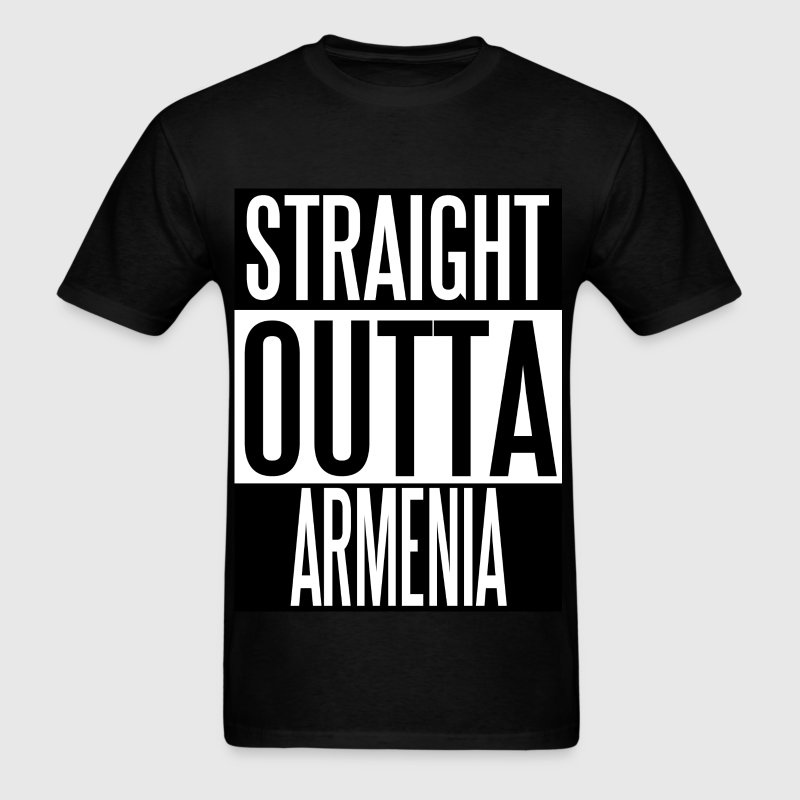 Straight Outta ARMENIA - Men's T-Shirt