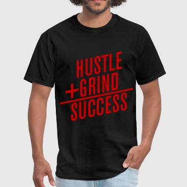HUSTLE+GRIND=SUCCESS - Men's T-Shirt