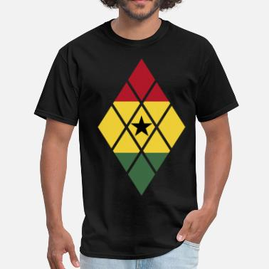 Ghana Designs Ghana Flag Diamond  - Men's T-Shirt