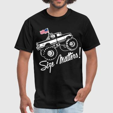 Monster mens america Car Fan size matters car Shir - Men's T-Shirt
