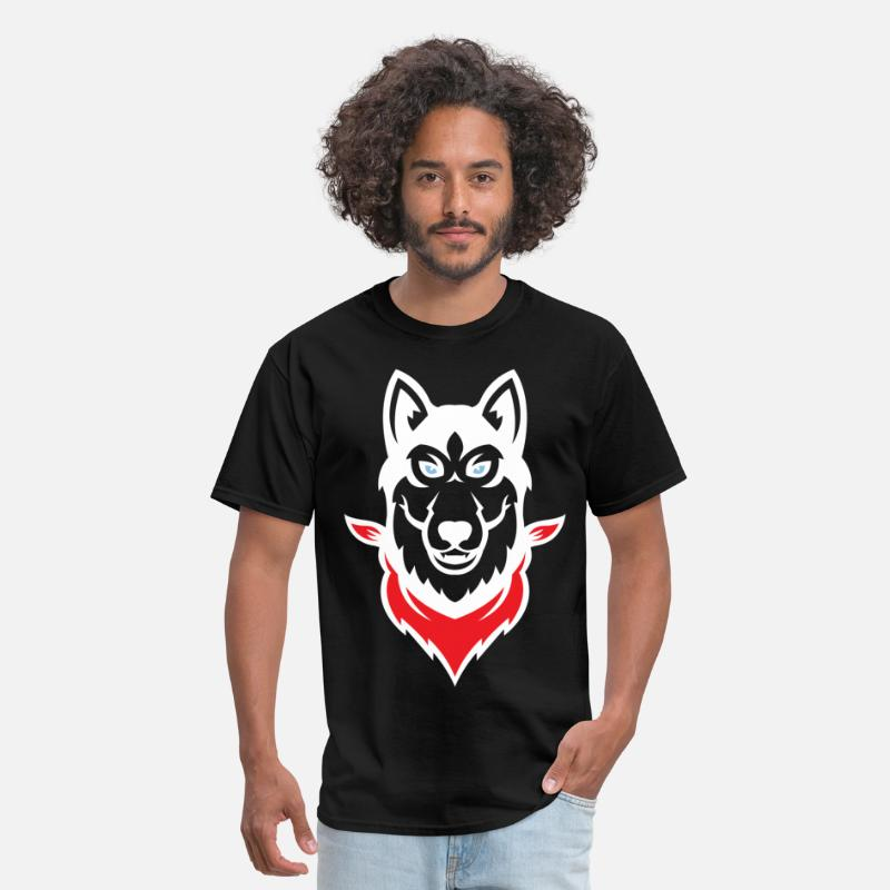 Dog T-Shirts - Siberian Husky - Men's T-Shirt black