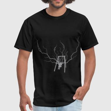 Kids Thunderstorm swing lightning - Men's T-Shirt