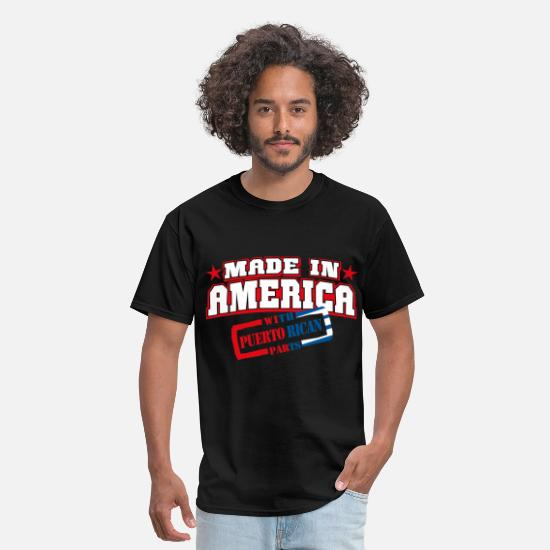 America T-Shirts - made_in_america__Puerto rican Parts - Men's T-Shirt black