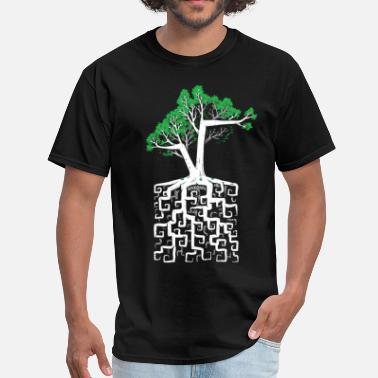 Rooted Square Root - Men's T-Shirt
