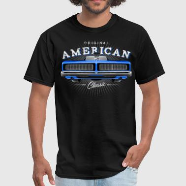 Classic Dodge Charger Muscle Car - Blue - Men's T-Shirt
