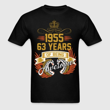 1955 63 Years Of Being Awesome - Men's T-Shirt