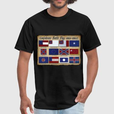 CSA Battle Flags - Men's T-Shirt