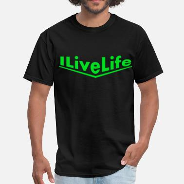 Porsch porsche green ILiveLife text.png - Men's T-Shirt