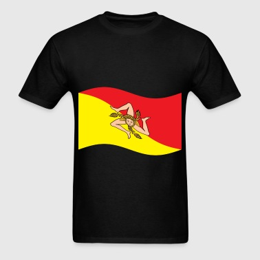 Sicily, Italy Flag - Men's T-Shirt