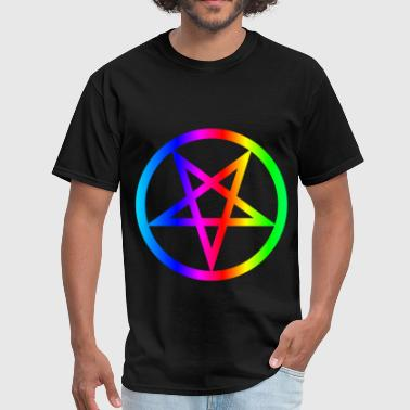 Rainbow Satanism Symbol - Men's T-Shirt