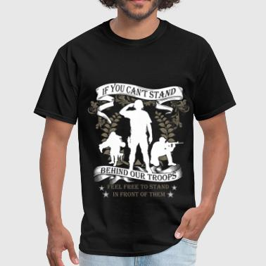 Stand Behind Our Troops Veterans - Our Troops - Men's T-Shirt