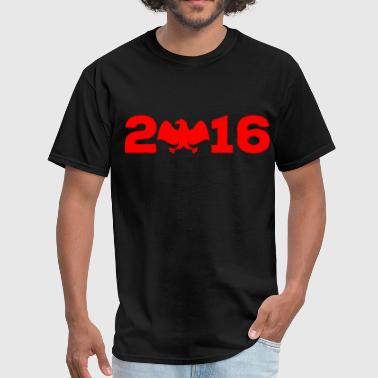 2016 bald eagle red - Men's T-Shirt