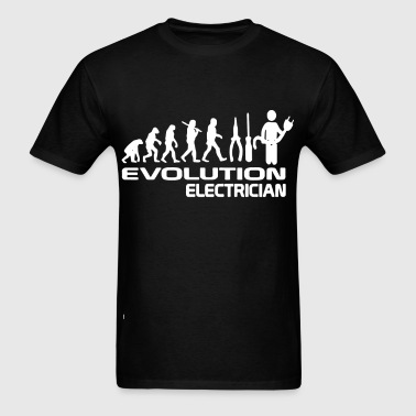 Evolution Of Electrician - Men's T-Shirt