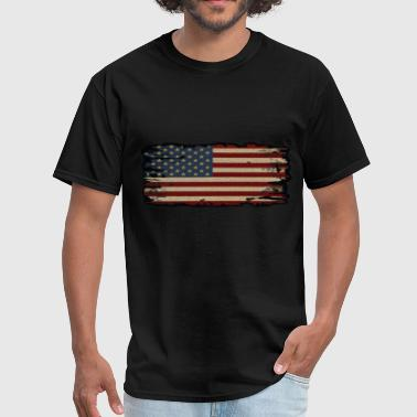 Burn This Flag Burned edge American Flag - Men's T-Shirt