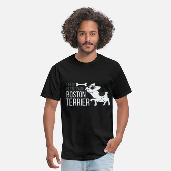 Terrier T-Shirts - Life is better with Boston Terrier - Men's T-Shirt black