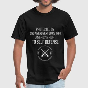 1791 Protected By 2nd Amendment since 1791. American ri - Men's T-Shirt