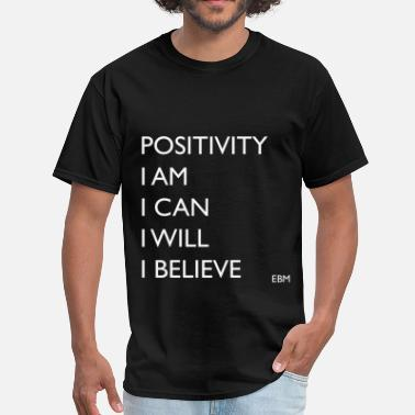 Positive Words POSITIVITY for Black Men - Men's T-Shirt