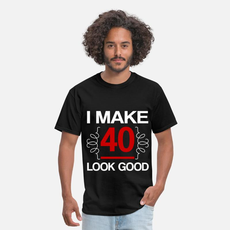 Forty T-Shirts - MAKE 40 2.png - Men's T-Shirt black