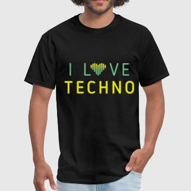 I love techno - Men's T-Shirt