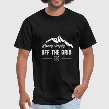 Living simply off the grid - Men's T-Shirt
