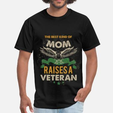 Veteran Mom Apparel The best kind of mom rises a veteran - Men's T-Shirt