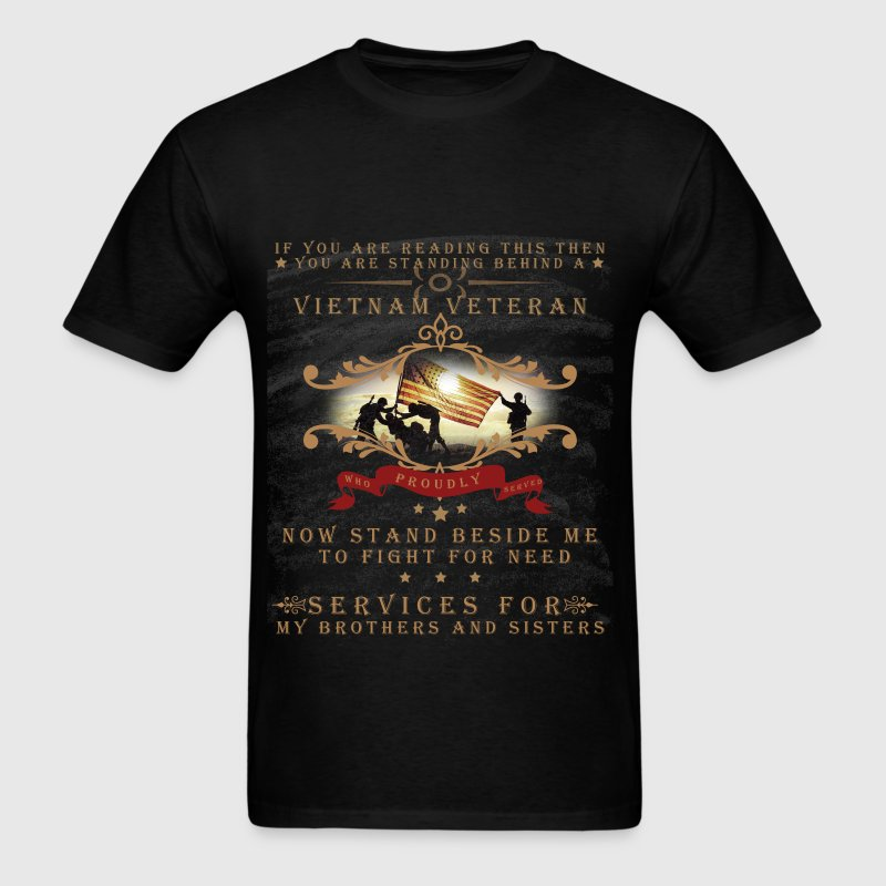 Vietnam veteran who proudly served - Men's T-Shirt