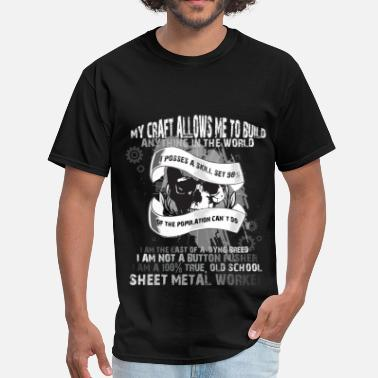 Sheet My craft allows me to build anything in the world - Men's T-Shirt