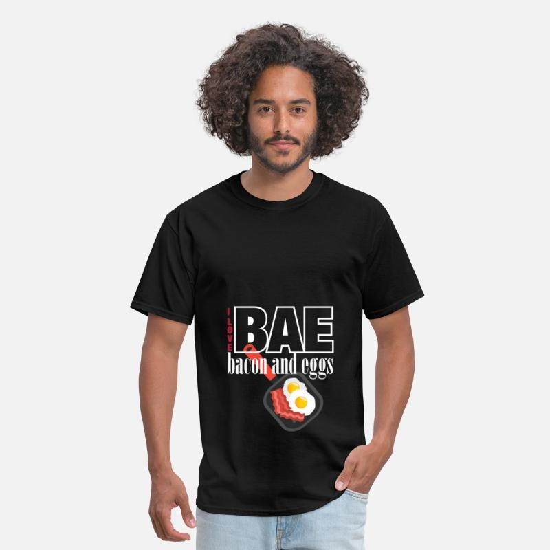 Bacon And Eggs T-shirt T-Shirts - I love BAE bacon and eggs - Men's T-Shirt black