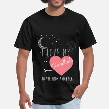 I Love My Grandkids To The Moon And Back I love my grandkids to the moon and back  - Men's T-Shirt