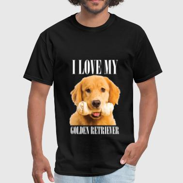 I love my golden retriever - Men's T-Shirt