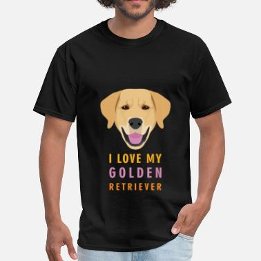 Golden Retriever Clothes Golden retriever - I love my Golden retriever - Men's T-Shirt