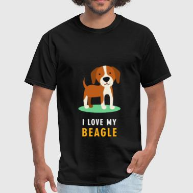 Beagle - I love my beagle - Men's T-Shirt