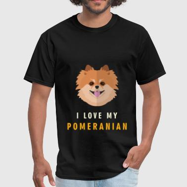 Pomeranian - I love my pomeranian - Men's T-Shirt