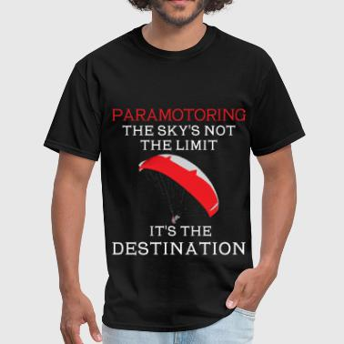 Paramotoring - Paramotoring- The sky's not the lim - Men's T-Shirt