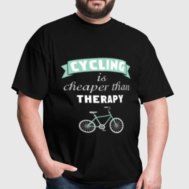 Cycling - Cycling is Cheaper Than Therapy - Men's T-Shirt