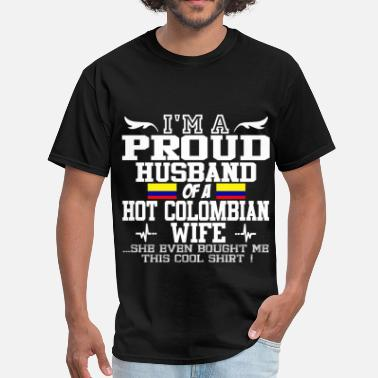 Colombian colombian wife 11189892820.png - Men's T-Shirt