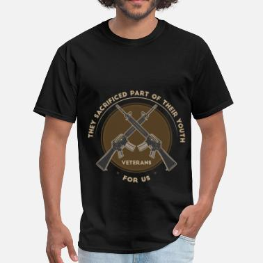 Veteran Clothes Veteran -Veterans - They sacrificed part of their  - Men's T-Shirt