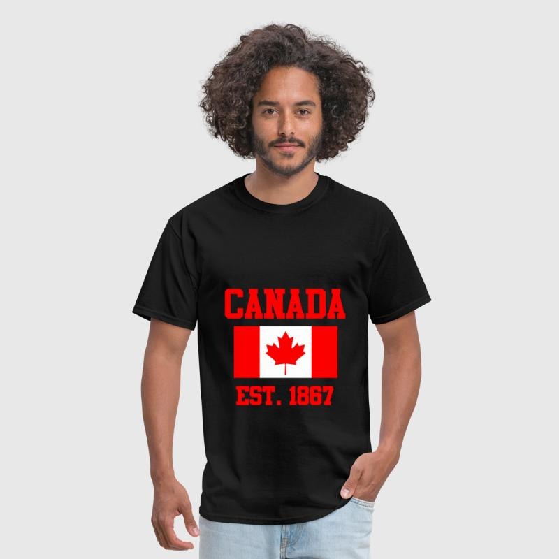 CANADA ESTABLISHED 1867 Leaf Flag Graphic T shirt - Men's T-Shirt